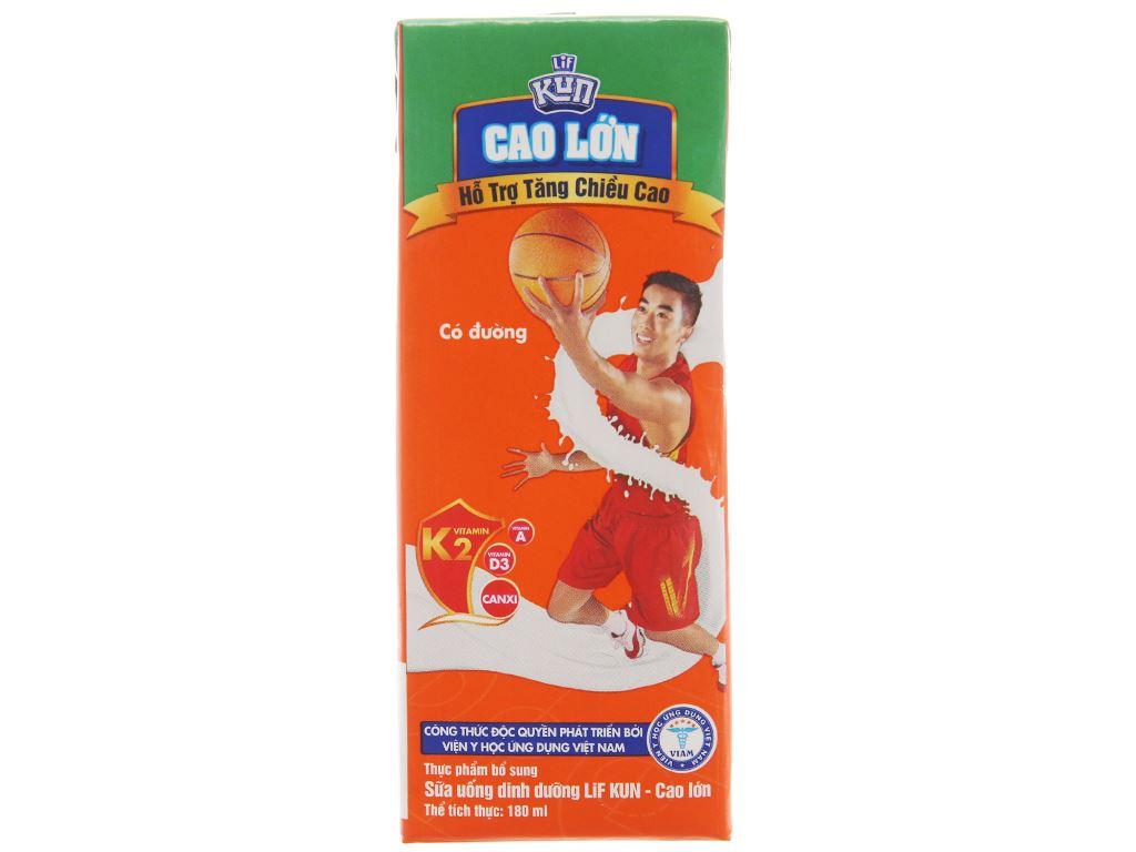 Lốc 4 hộp sữa dinh dưỡng LiF Kun có đường 180ml 2