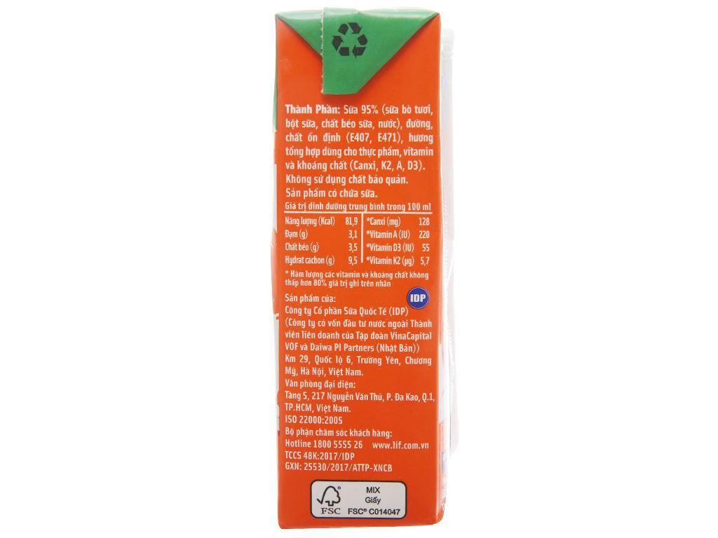 Lốc 4 hộp sữa dinh dưỡng LiF Kun có đường 180ml 3