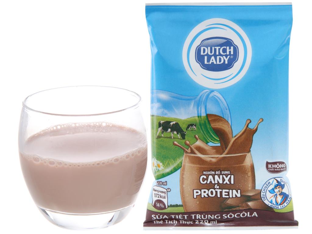 Sữa tiệt trùng Dutch Lady Canxi & Protein sô cô la 220ml 3