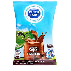Sữa tiệt trùng Dutch Lady Canxi & Protein sô cô la 220ml