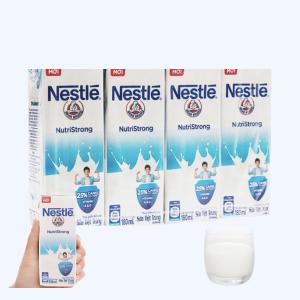 Lốc 4 hộp sữa tiệt trùng có đường Nestlé NutriStrong 180ml