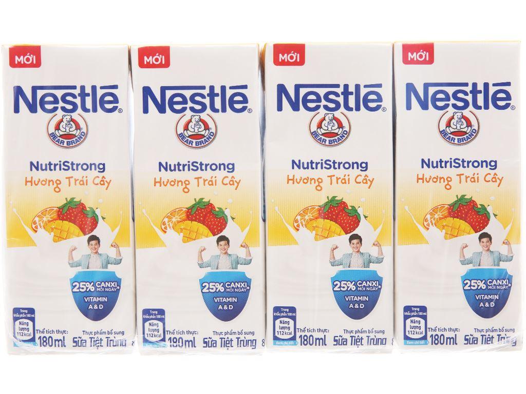 Lốc 4 hộp sữa tiệt trùng hương trái cây Nestlé NutriStrong 180ml 2