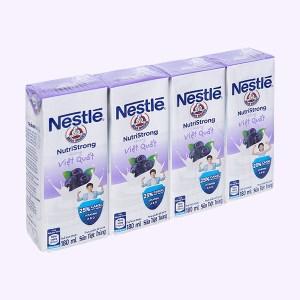 Lốc 4 hộp sữa tiệt trùng hương việt quất Nestlé NutriStrong 180ml