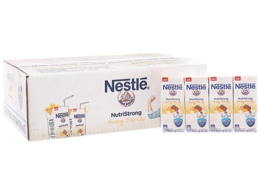 Thùng 48 hộp sữa tiệt trùng Nestlé NutriStrong hương trái cây 180ml 1