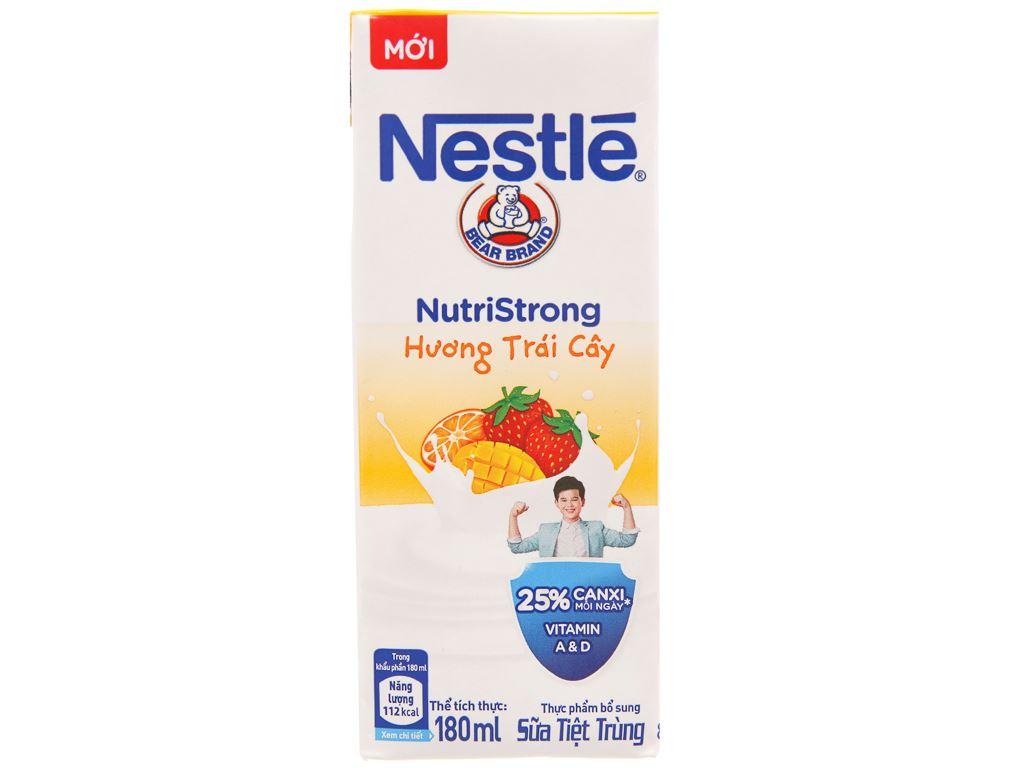 Thùng 48 hộp sữa tiệt trùng Nestlé NutriStrong hương trái cây 180ml 2