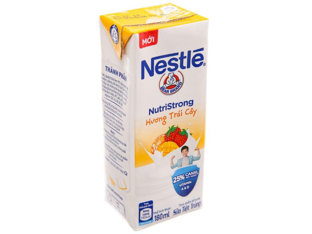 Sữa tiệt trùng Nestlé hương trái cây hộp 180ml 2