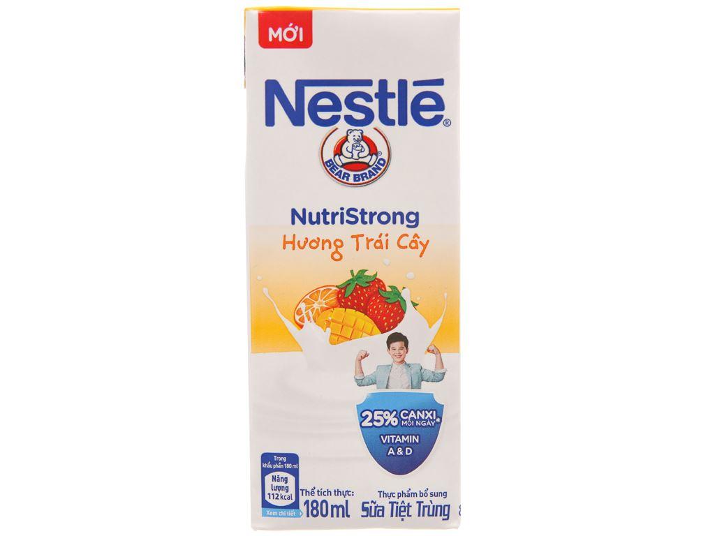 Sữa tiệt trùng Nestlé hương trái cây hộp 180ml 3