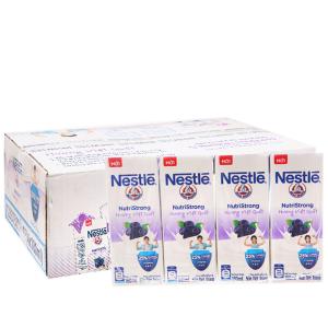 Thùng 48 hộp sữa tiệt trùng Nestlé NutriStrong việt quất 180ml
