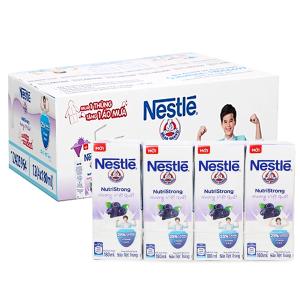 Thùng 48 hộp sữa tiệt trùng hương việt quất Nestlé NutriStrong 180ml