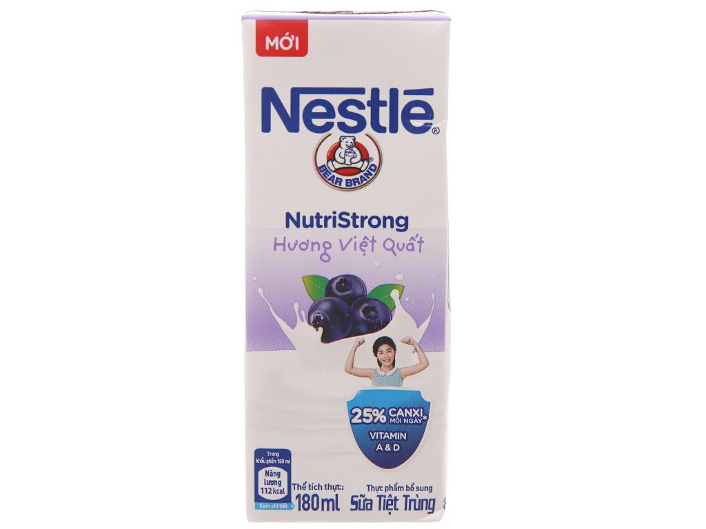 Thùng 48 hộp sữa tiệt trùng Nestlé NutriStrong việt quất 180ml 2