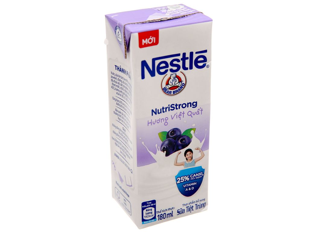 Sữa tiệt trùng Nestlé việt quất hộp 180ml 2