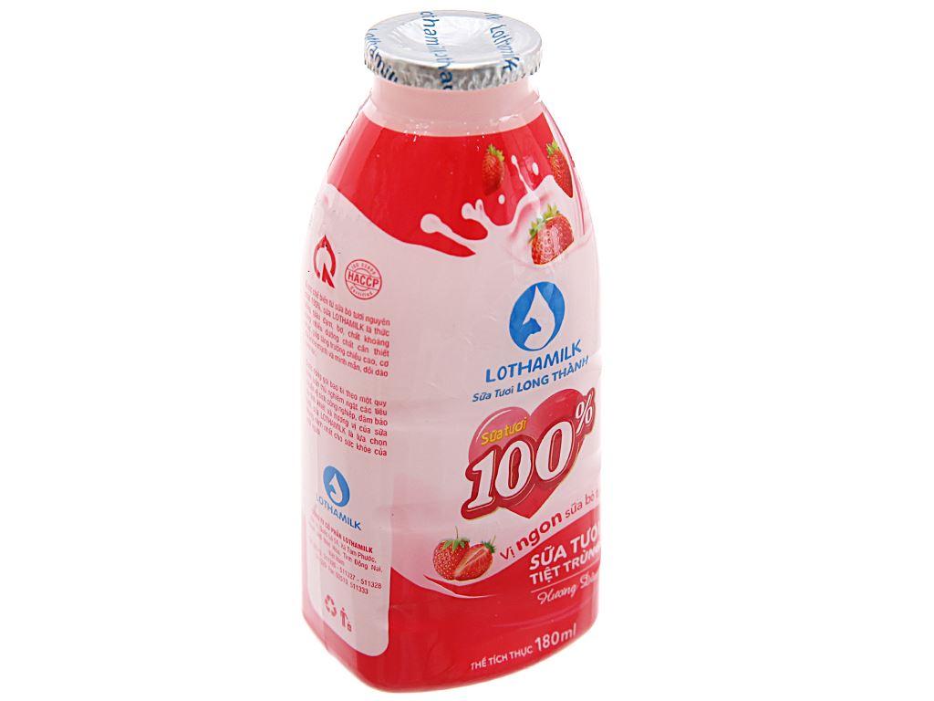 Sữa tươi tiệt trùng Lothamilk hương dâu chai 180ml 2