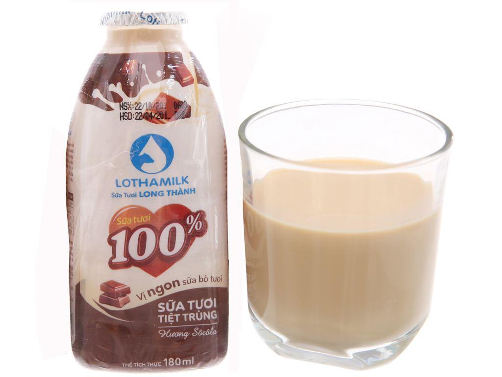 Lốc 3 chai sữa tươi tiệt trùng Lothamilk sô cô la 180ml 3