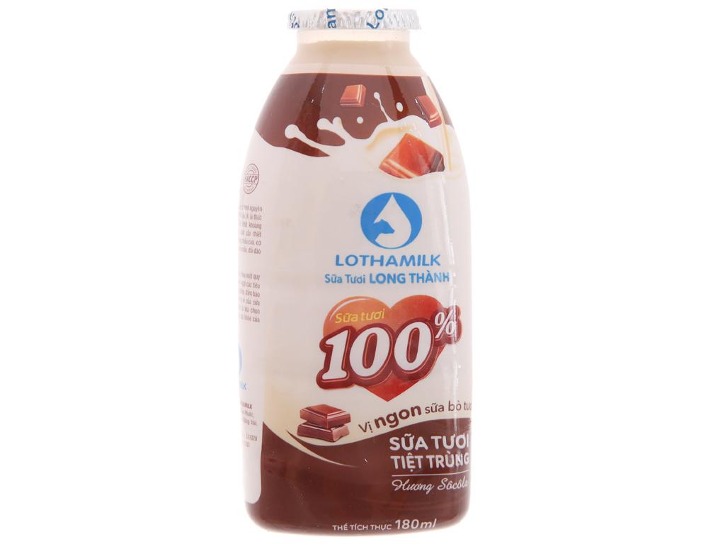 Lốc 3 chai sữa tươi tiệt trùng Lothamilk sô cô la 180ml 4