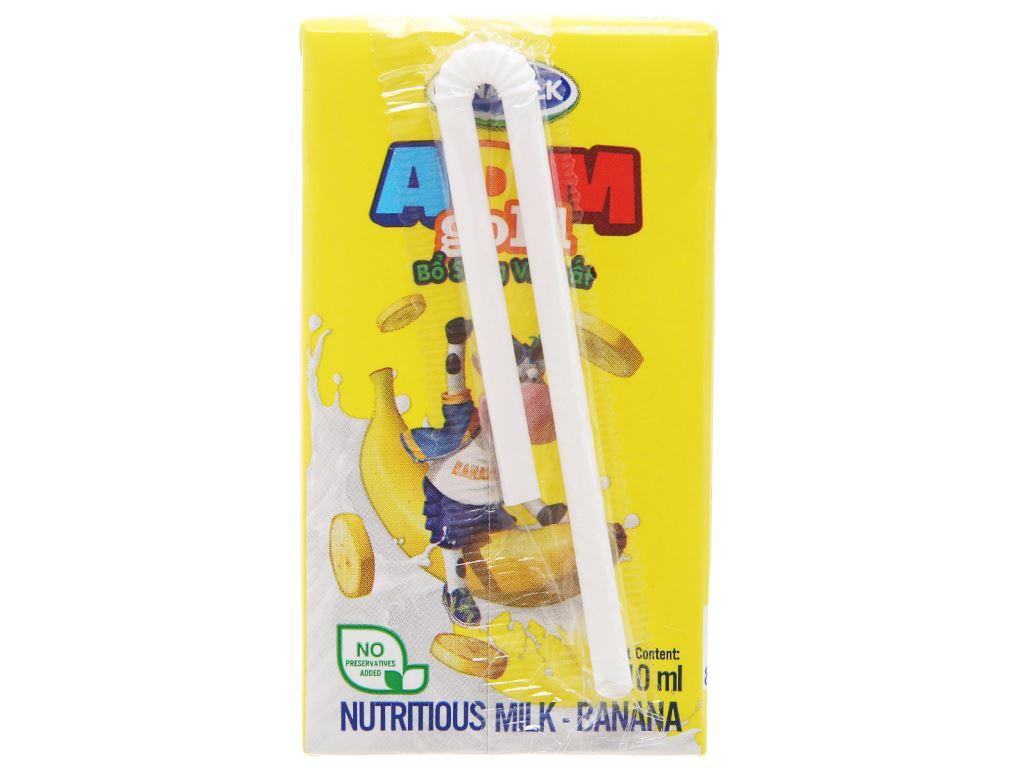 Lốc 4 hộp sữa dinh dưỡng Vinamilk ADM Gold hương chuối 110ml 4