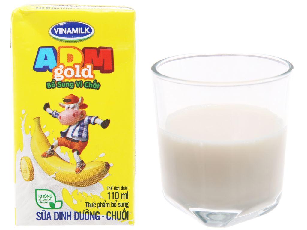 Lốc 4 hộp sữa dinh dưỡng Vinamilk ADM Gold hương chuối 110ml 3