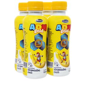 Lốc 4 chai sữa dinh dưỡng hương chuối Vinamilk ADM Gold 150ml