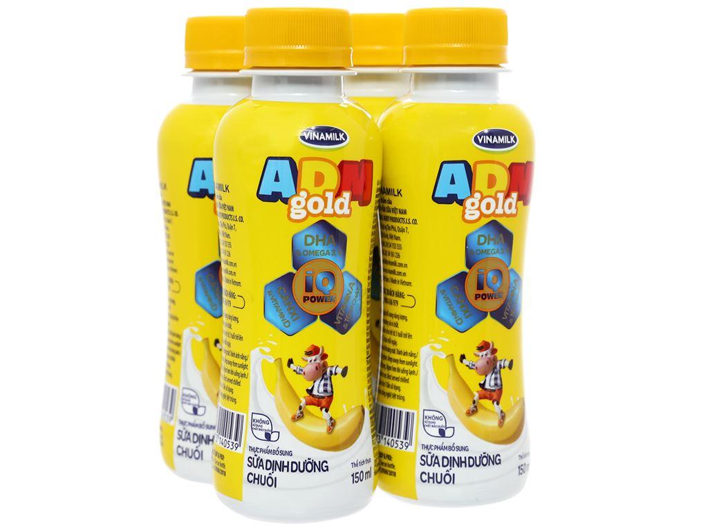 Lốc 4 chai sữa dinh dưỡng Vinamilk ADM Gold hương chuối chai 150ml 1