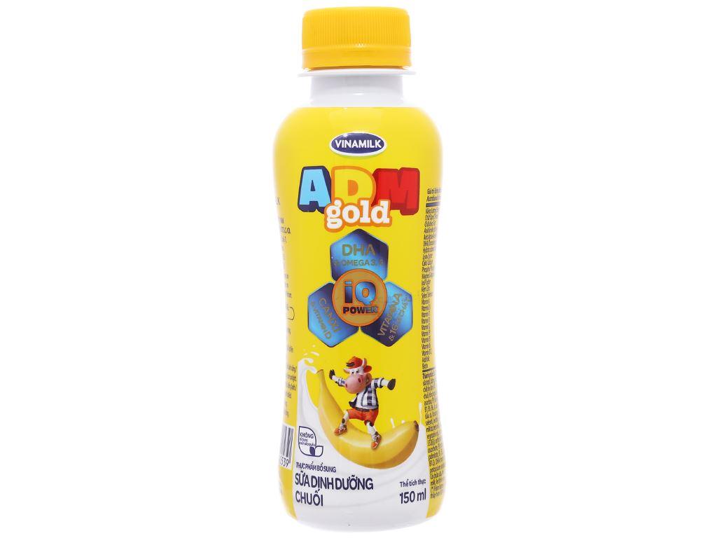 Lốc 4 chai sữa dinh dưỡng Vinamilk ADM Gold hương chuối chai 150ml 2
