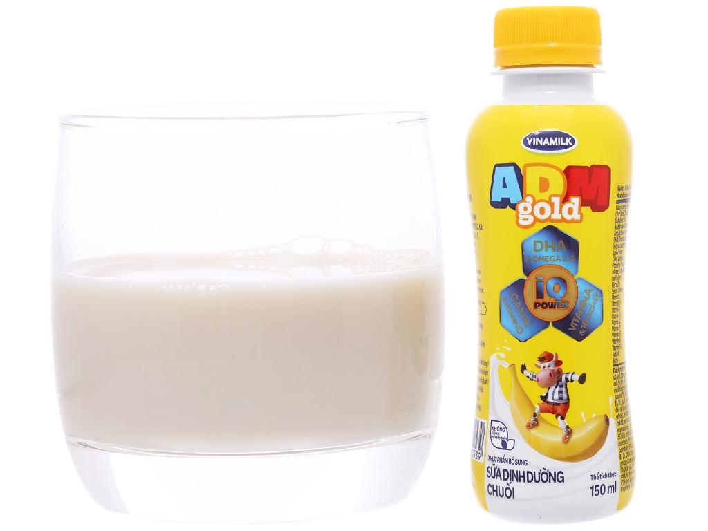 Lốc 4 chai sữa dinh dưỡng Vinamilk ADM Gold hương chuối chai 150ml 5