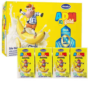 Thùng 48 hộp sữa dinh dưỡng hương chuối Vinamilk ADM Gold 110ml