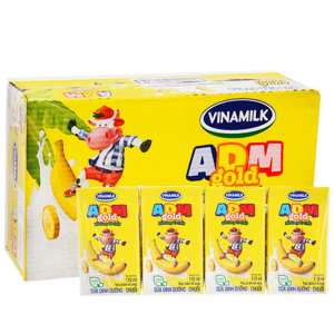 Thùng 48 hộp sữa dinh dưỡng Vinamilk ADM Gold hương chuối 110ml