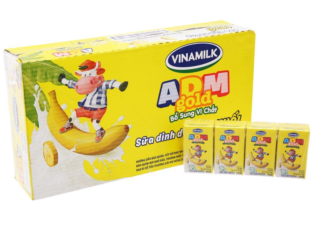Thùng 48 hộp sữa dinh dưỡng hương chuối Vinamilk ADM Gold 110ml 1
