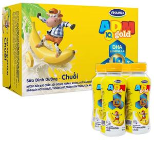 Thùng 24 chai sữa dinh dưỡng hương chuối Vinamilk ADM Gold 150ml