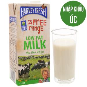 Sữa tươi tiệt trùng Harvey Fresh ít béo hộp 1 lít