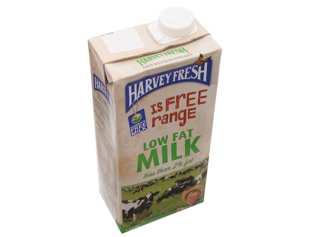 Sữa tươi tiệt trùng ít béo Harvey Fresh hộp 1 lít 3