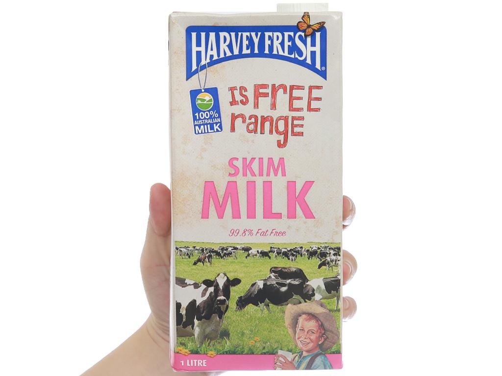 Sữa tươi tiệt trùng tách béo Harvey Fresh Skim Milk hộp 1 lít 5