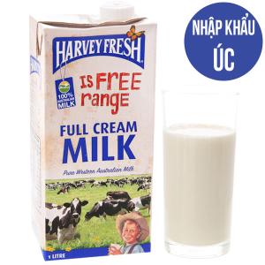Sữa tươi tiệt trùng Harvey Fresh nguyên kem hộp 1 lít