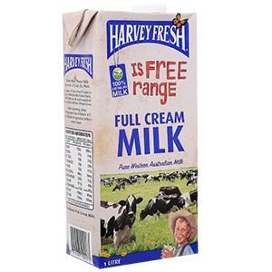 Sữa tươi tiệt trùng Harvey Fresh Nguyên kem hộp 1lít