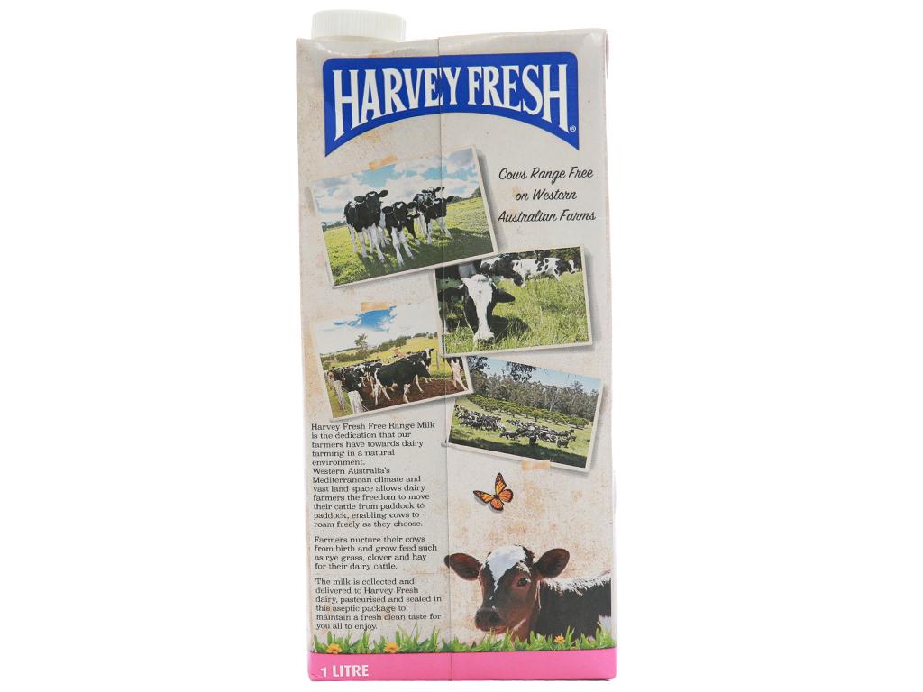 Thùng 12 hộp sữa tươi tiệt trùng Harvey Fresh Skim Milk tách béo 1 lít 3