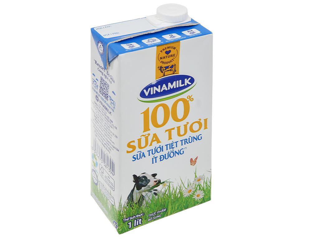 Sữa tươi ít đường Vinamilk 100% Sữa Tươi hộp 1 lít 1