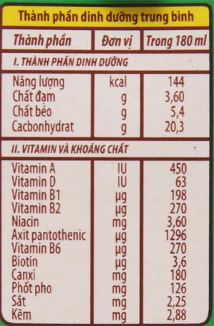 Sữa tiệt trùng NutiFood Nuvita ca cao lúa mạch hộp 180ml 6