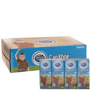 Thùng 48 hộp sữa tiệt trùng Dutch Lady Cao khoẻ sô cô la 170ml