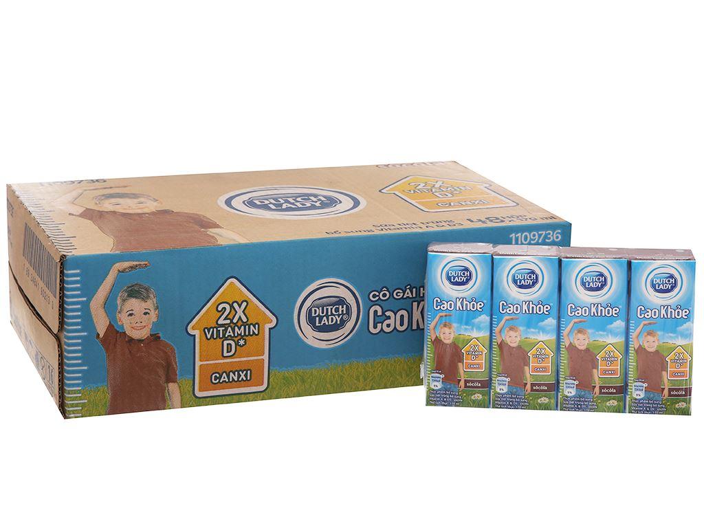 Thùng 48 hộp sữa tiệt trùng Dutch Lady Cao khoẻ sô cô la 170ml 2