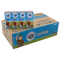 Thùng sữa tiệt trùng Dutch Lady Cao khỏe hương Socola hộp 170ml (48 hộp)