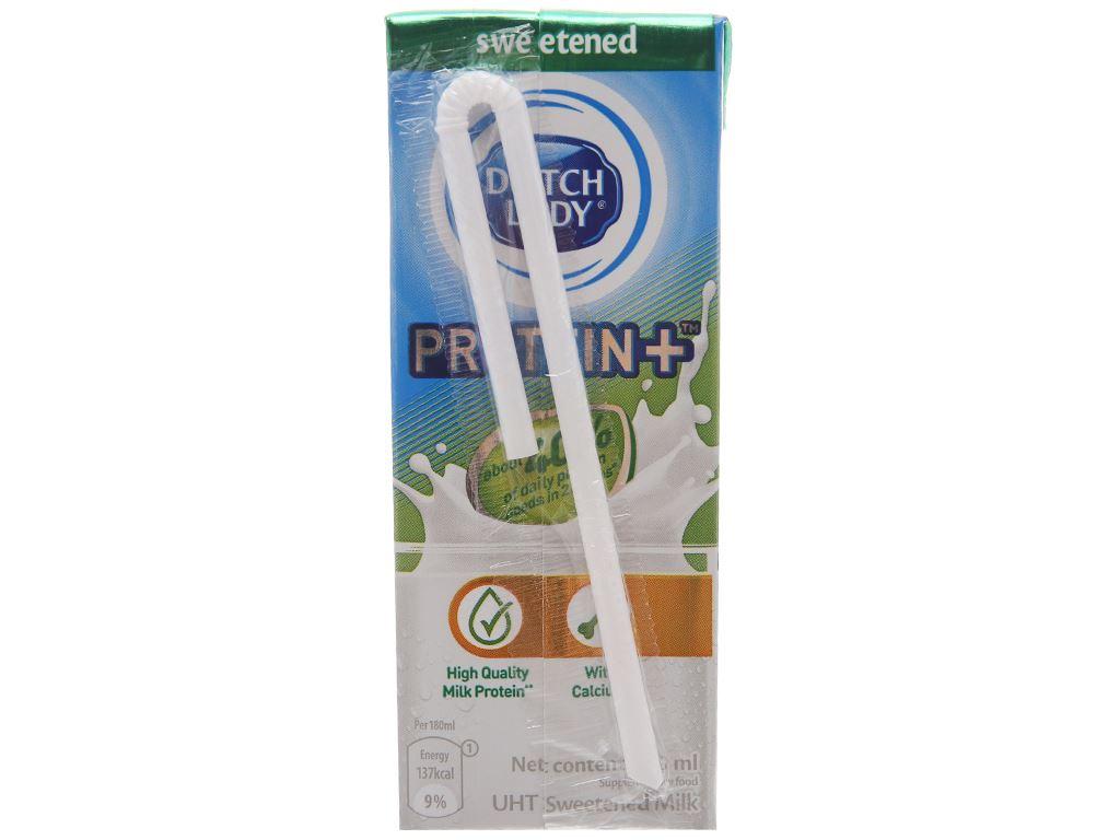 Lốc 4 hộp sữa tiệt trùng Dutch Lady Protein+ có đường 180ml 3