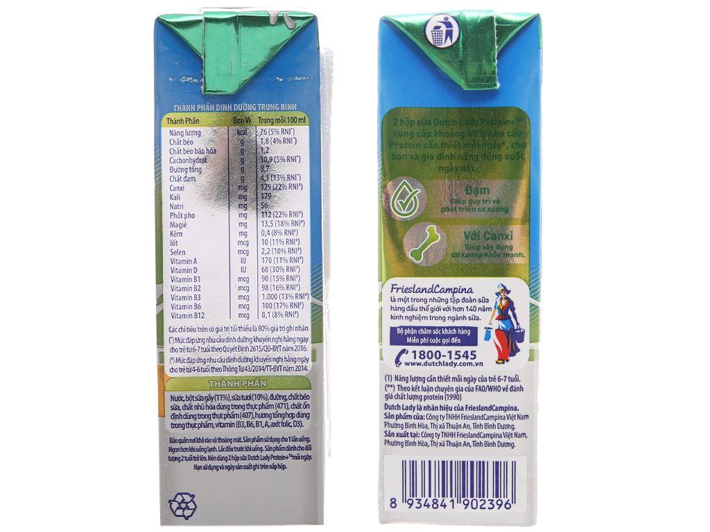 Sữa tiệt trùng Dutch Lady Protein+ có đường hộp 180ml 5