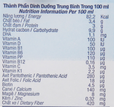 TH true MILK hộp 180ml 6