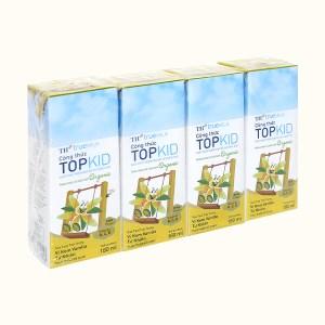 Lốc 4 hộp sữa tươi kem vanilla tự nhiên TH true MILK Top Kid Organic 180ml