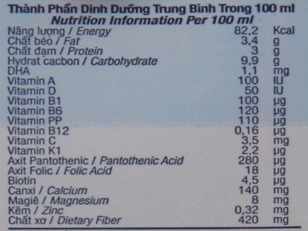 Lốc 4 hộp sữa tươi kem vanilla tự nhiên TH true MILK Top Kid Organic 180ml 6