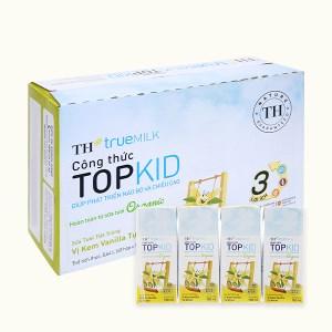 Thùng 48 hộp sữa tươi tiệt trùng kem vanilla tự nhiên TH true MILK Top Kid Organic 180ml