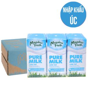 Thùng 24 hộp sữa tươi tiệt trùng Meadow Fresh ít béo 200ml