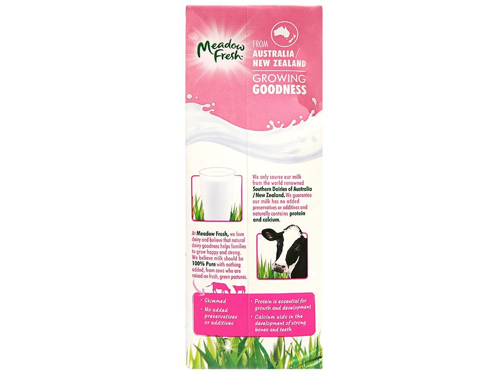 Thùng 12 hộp sữa tươi tiệt trùng Meadow Fresh không béo 1 lít 9