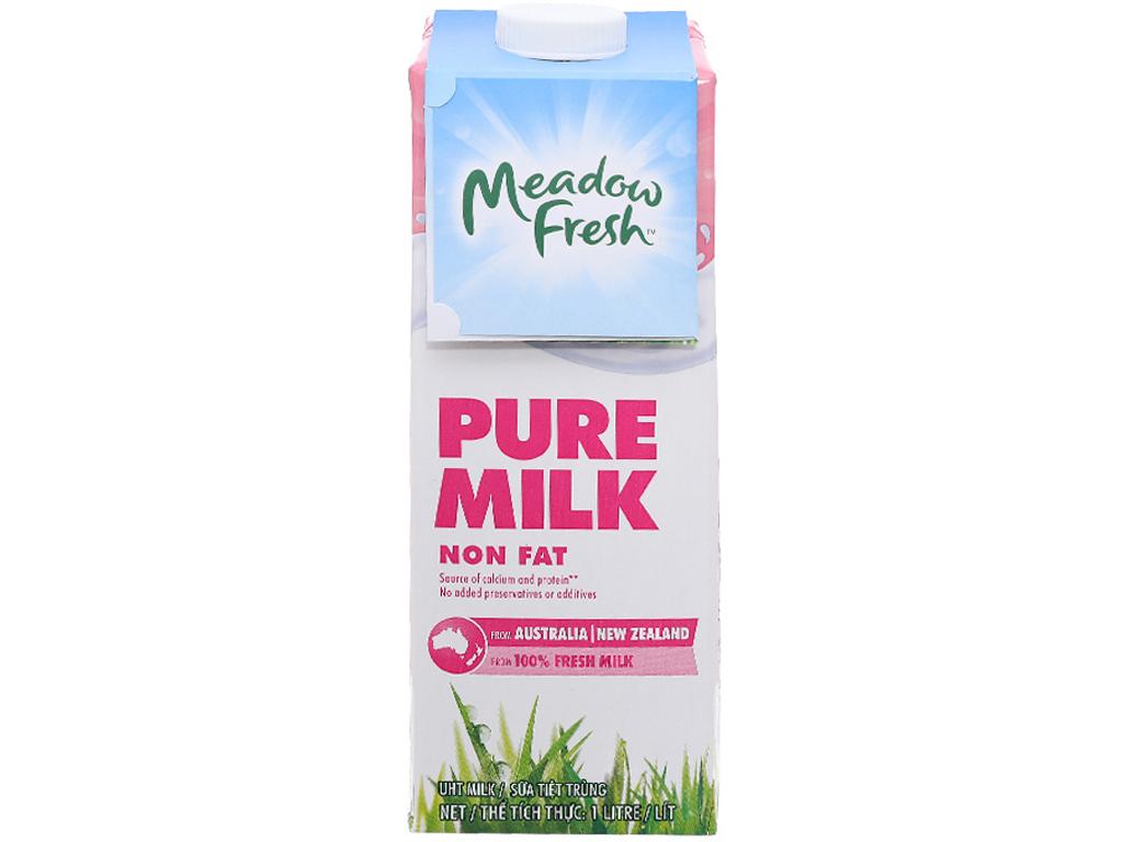 Thùng 12 hộp sữa tươi tiệt trùng Meadow Fresh không béo 1 lít 5