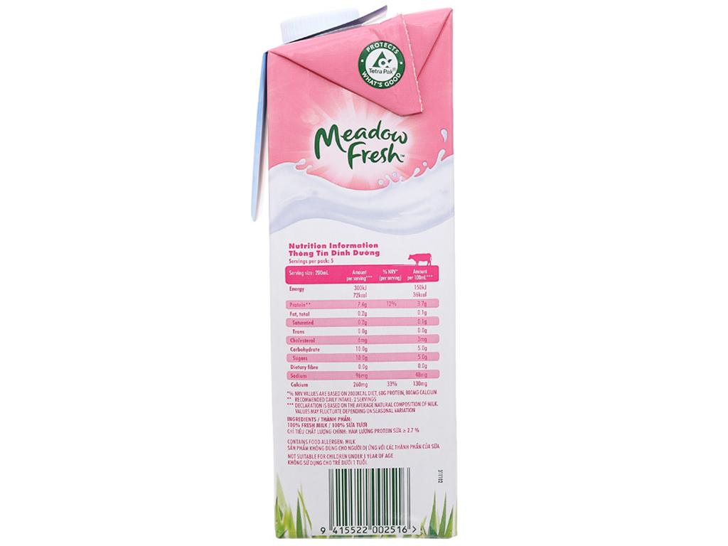 Thùng 12 hộp sữa tươi tiệt trùng Meadow Fresh không béo 1 lít 4