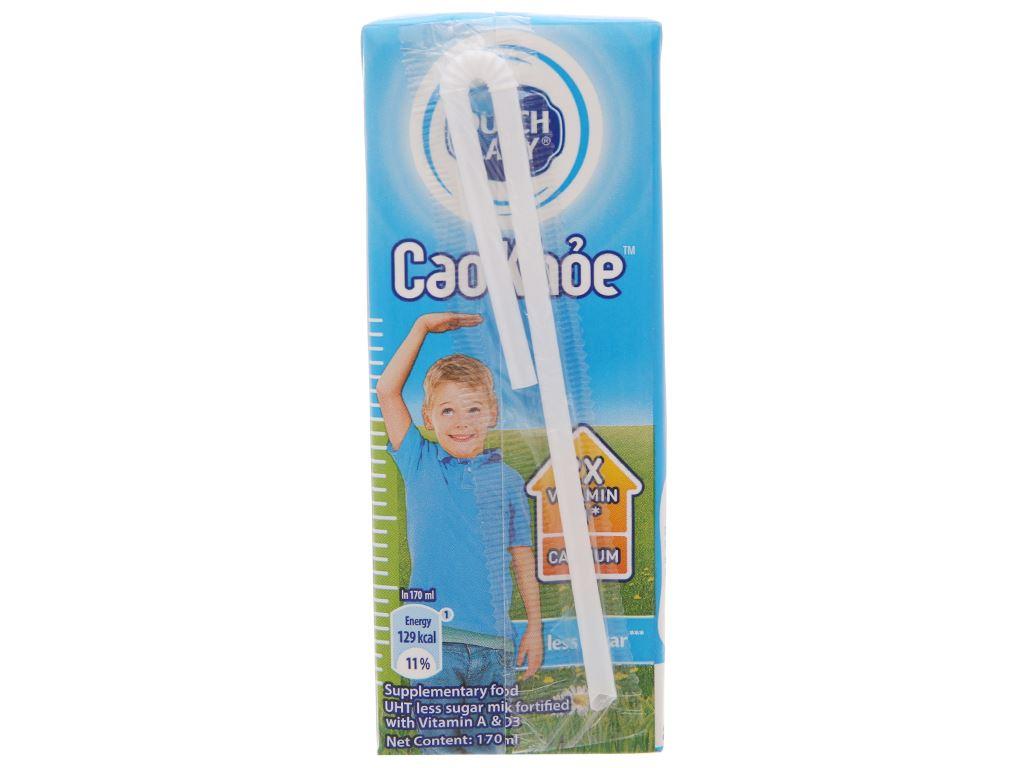 Sữa tiệt trùng Dutch Lady Cao khoẻ ít đường hộp 170ml 3